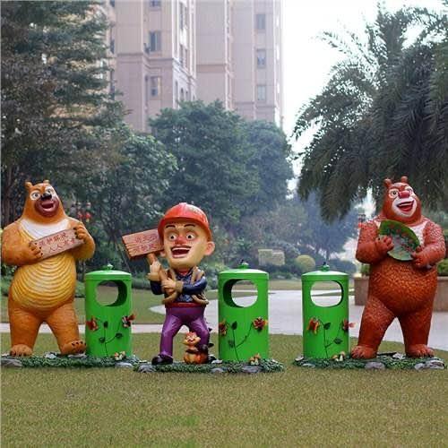 杭州玻璃钢熊大熊二