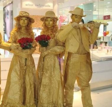 济南铜人表演|济南老北京铜人艺术|铜人行为艺术